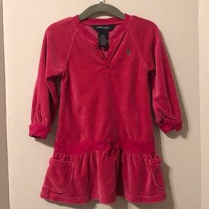 Ralph Lauren Pink Velour Dress